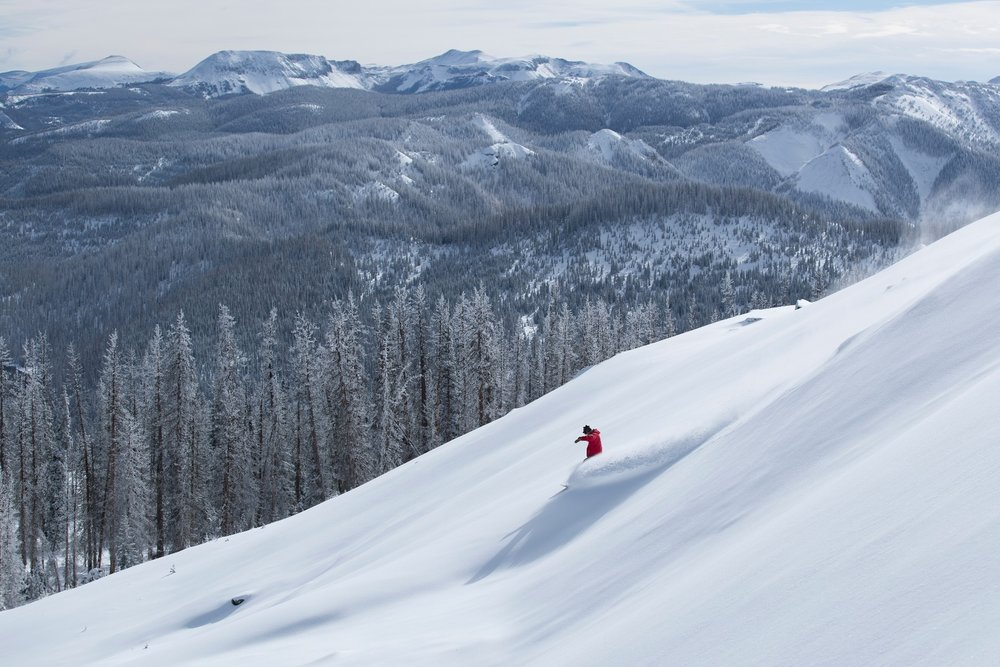 Not bad conditions for the first day of the North American ski season. - © Wolf Creek, Scott DW Smith