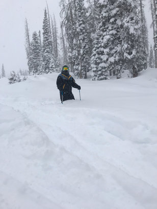 "Wolf Creek Ski Area - 34"" of pow on Jan 1! - © iPhone"