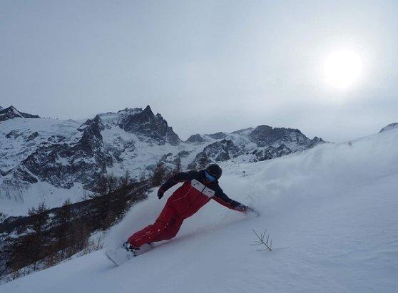 Le Chazelet - petite cession snow aujourd'hui  - © ESF La Grave - La Meije