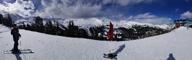 Loveland - was there yesterday. chutes were good a little icy at the top but nothing too bad - © danny