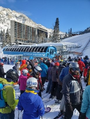 Snowbird - Tram down long lines. stay away - © anonymous