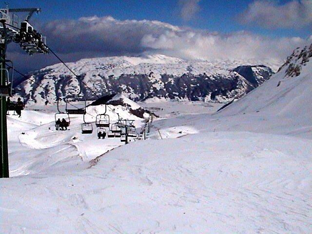 Skilifts at Ovindoli, Italy