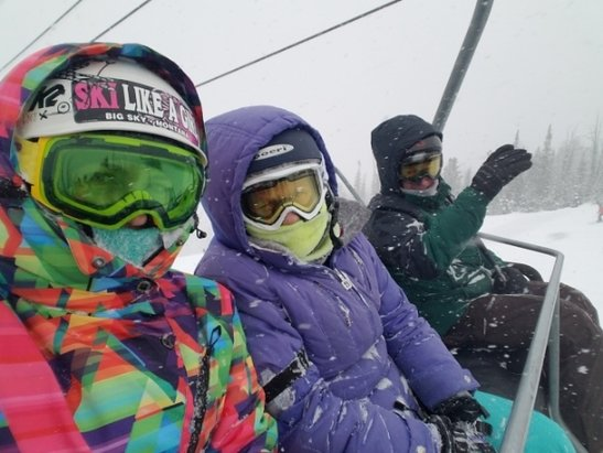 Big Sky Resort - If you're not here today, you better be tomorrow!! It's been snowing all day! - © HD