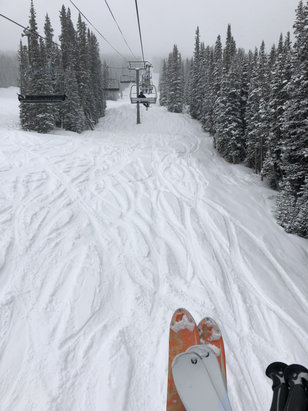 Copper Mountain Resort - Fresh snow !!!!! And it's still coming down !! - © Robert's iPhone
