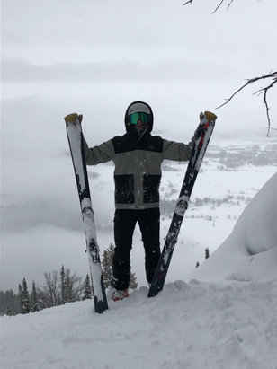 Jackson Hole - Best powder day I've had in a long time!!   - © Melanie's iPhone