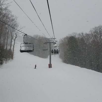 Loon Mountain - A few inches came down so far today.  Crowds aren't bad. - © anonymous