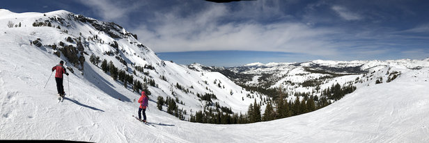 Kirkwood - Fantastic spring conditions on Sunday March 17th  The mountain was in great shape - © Dennis Porteous's