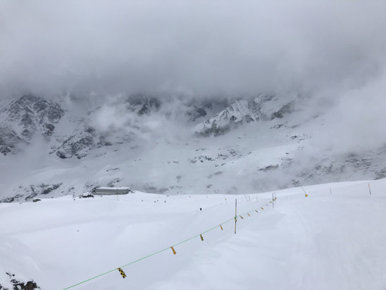 Cervinia - Breuil - Snowing all night and day 80cm snow fall per night, pistes closed just some of them open  - © iPhone