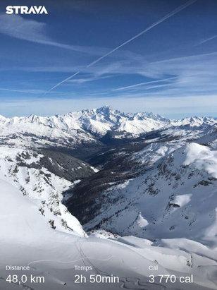 La Plagne - Super neige et un ciel magnifique pour finir cette semaine en beaut - © Laure