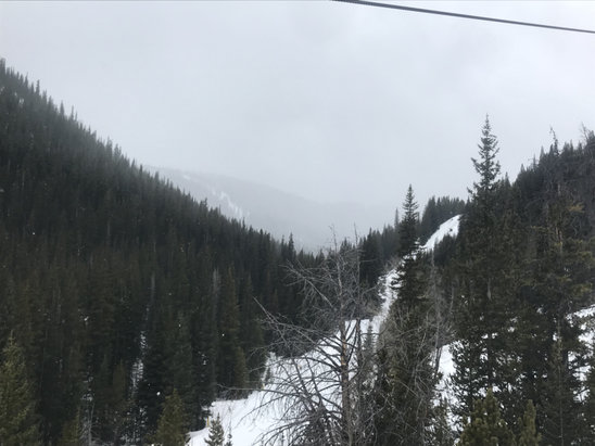 Breckenridge - Moderate snow all afternoon; upper runs ok, lower pure slush. Classic spring conditions—not complaining!   - © JButin's iPhone