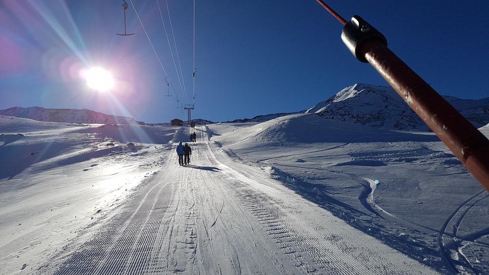 Schlepplift im Skigebiet Unterbäch - © Unterbäch Tourismus