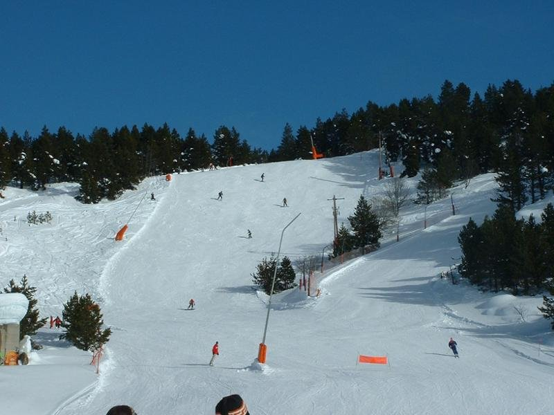 Some skiers in Font Romeu, France