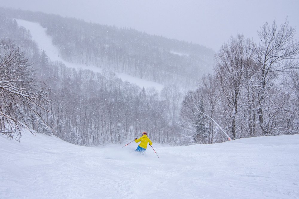 Fresh snow at Sunday River is the best way to ring in spring. - © Sunday River Resort