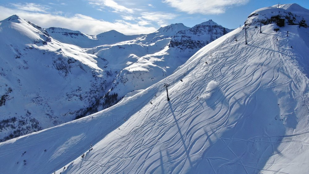 Telluride opened new terrain this week with well over a foot of fresh snow. - © Telluride Ski Resort