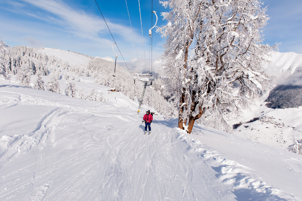 Tellerlift im Skigebiet Vichères-Liddes  - © Tele Vichères-Liddes