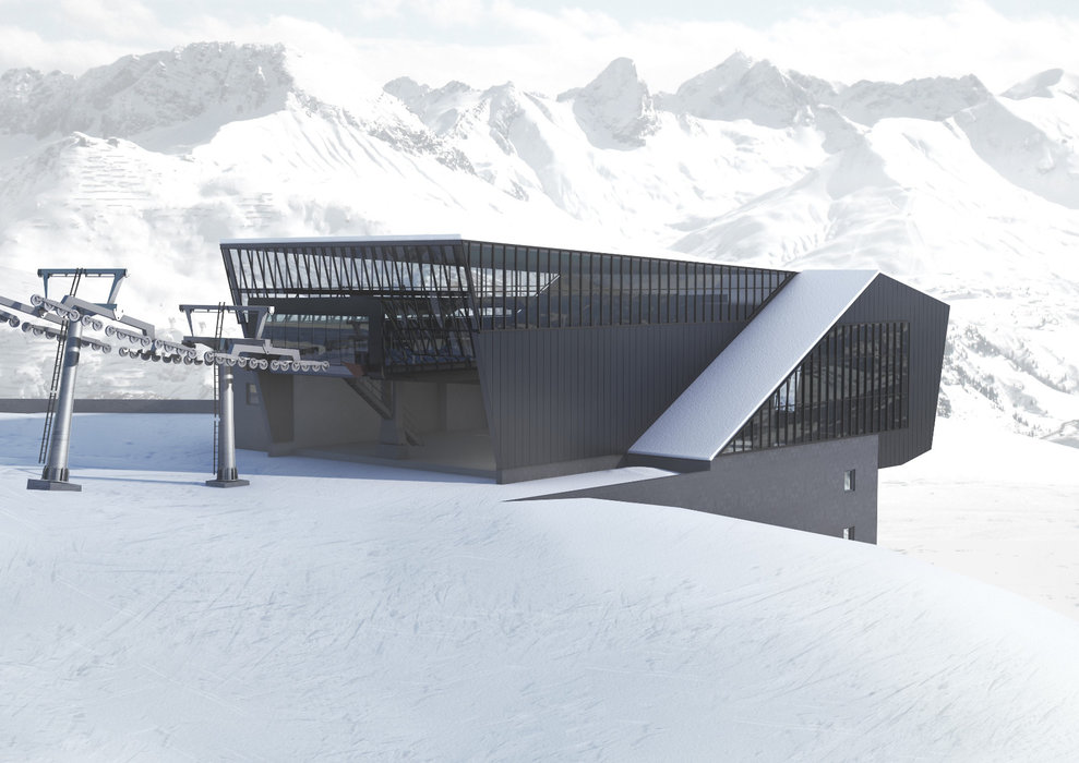 Nowa Schindlergratbahn w St. Anton am Arlberg - © Arlberger Bergbahnen AG