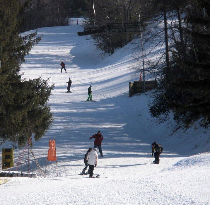 Skiers at Tussey Mountain, Pennsylvania