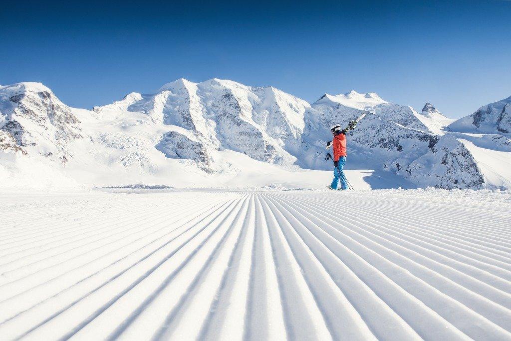 Weißer Teppich auf der Lagalb - © Engadin St. Moritz Tourismus