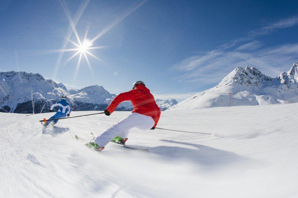 Skifahren Corviglia - © Engadin St. Moritz Tourismus | Filip Zuan