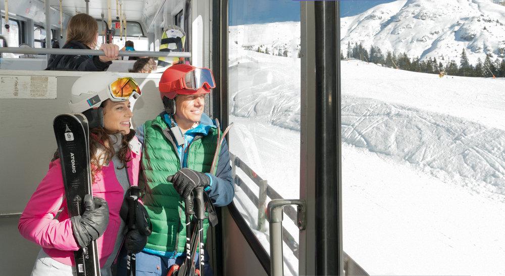 In der Standseilbahn der Bergbahnen Rosshütte - © Olympiaregion Seefeld