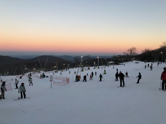 Wintergreen Resort - First time at Wintergreen. Trails that were open are in great condition (especially considering it's all man-made)!! They're making snow 24hrs/day. Expect more runs to be open soon. Great resort for a weekend get away. 100% recommend.  - © Anonymous