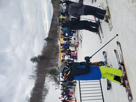 Catamount - Long lines today (about 15 minutes wait) for most of the day.  The snow was pretty good however.   - © Anonymous