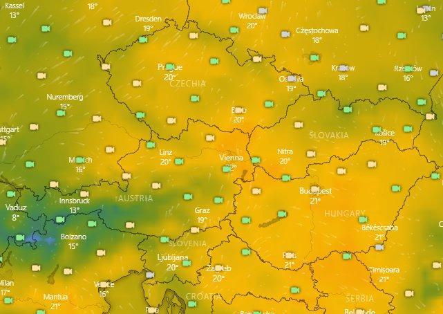 Aké bude počasie v najbližších dňoch? - © Windy.com