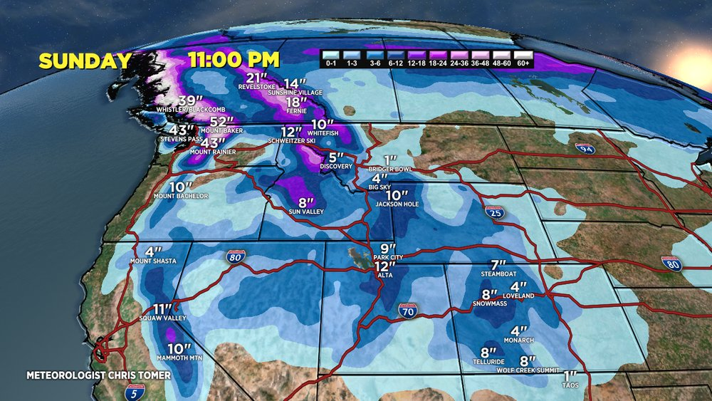 Calling all powder chasers! Hit these resorts this weekend for the best turns.  - © Meteorologist Chris Tomer