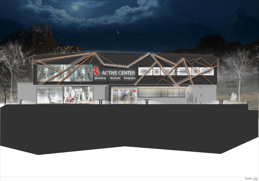 Das neue Mehrzweckgebäude in Berwang mit Sportshop und Büros bieten - © © Thurner/Maier, Bergbahnen Berwang