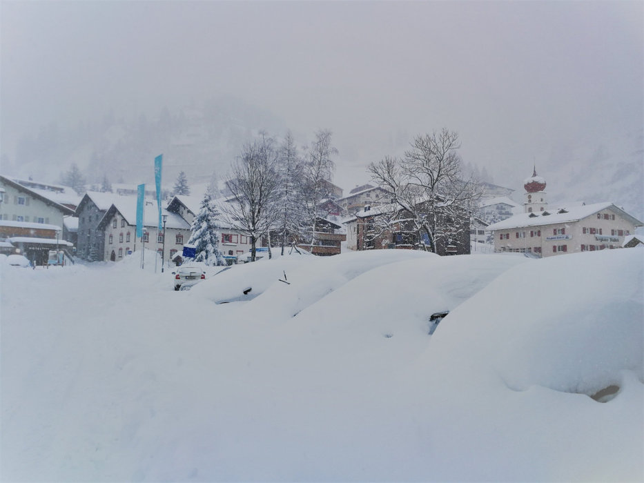 Fast ein halber Meter Neuschnee fiel in Stuben am Arlberg - © Facebook Stuben am Arlberg