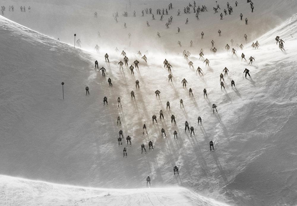 """Famous ski race """"Der Weiße Rausch"""" (the white thrill) - © ©TVB St. Anton am Arlberg_Josef Mallaun"""