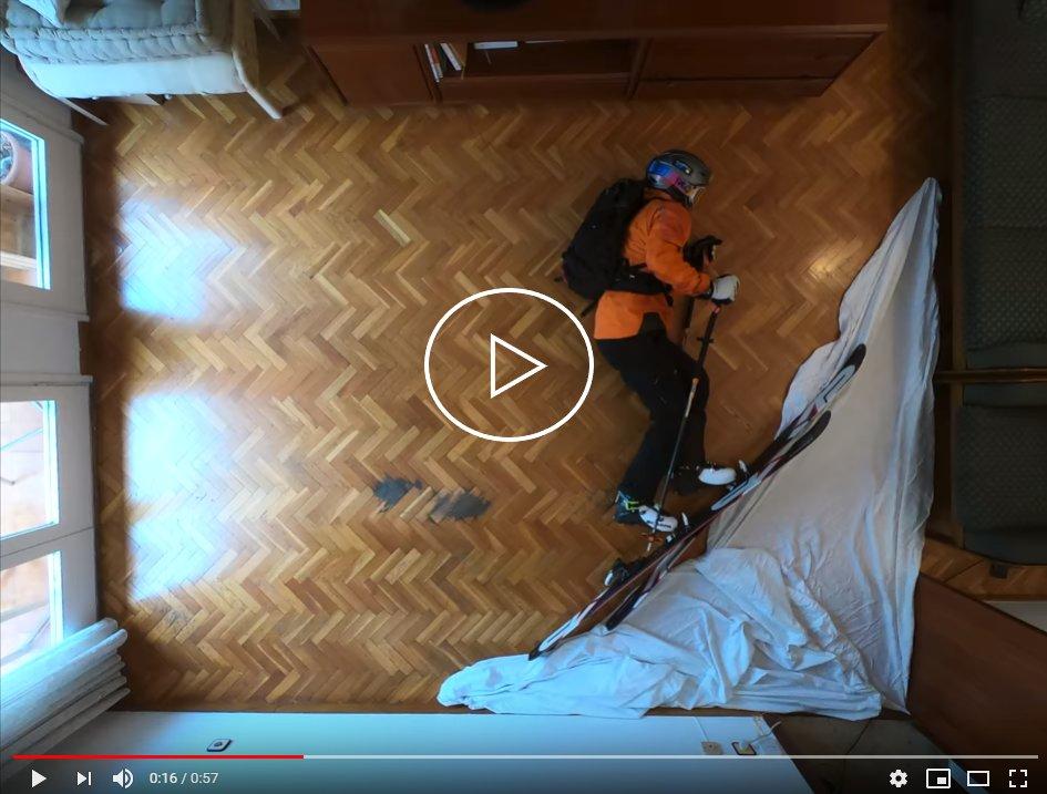 Sciare in casa ai tempi del Coronavirus - © OTS/Youtube/Philipp Klein Herrero