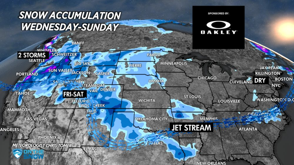 The hot spot this weekend is the Pacific Northwest and Intermountain West.  - © Meteorologist Chris Tomer