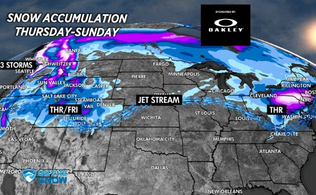 Multiple storms will drop feet of snow across the country.  - © Meteorologist Chris Tomer