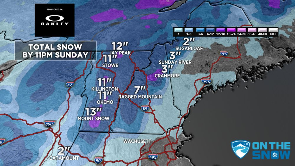 The Northeast gets much needed snow this weekend. - © Meteorologist Chris Tomer