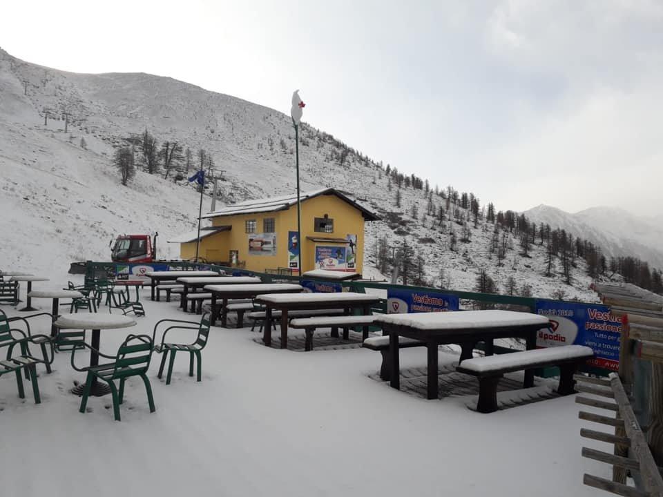 La prima neve a Prali 03.11.19 - © Prali Skiarea Facebook