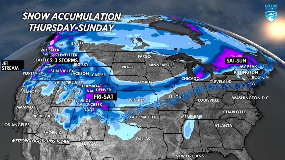 Snow is headed to the PNW  - © Meteorologist Chris Tomer