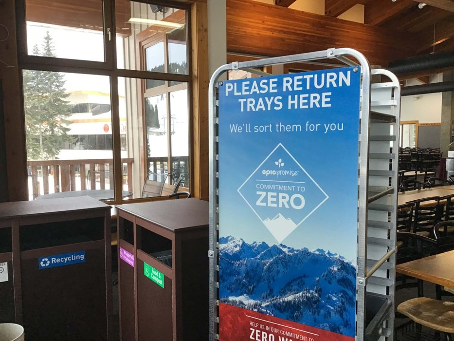 The team at Stevens Pass has worked hard to continuously improve waste diversion efforts year after year. - © Eco-Products / Stevens Pass
