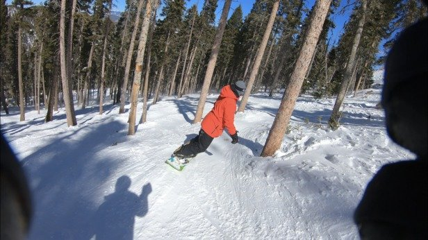 Angel Fire Resort - Sunday, very few people, packed powder. Outstanding day. - © M