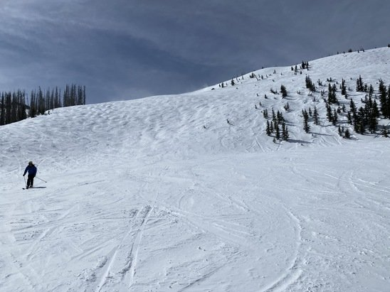 """Wolf Creek Ski Area - Great day on 3/10. Snow on the blacks was great. Even though """"touched"""", it was definitely not skied out.  - © JW"""