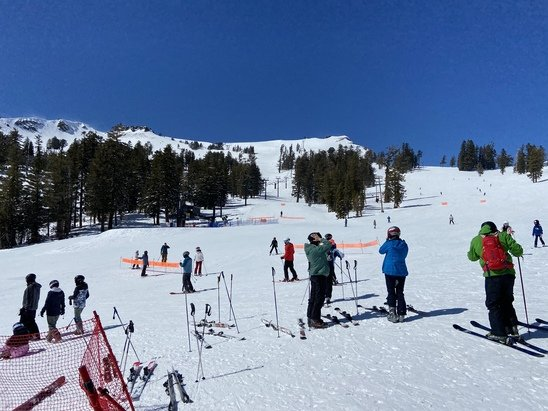 Squaw Valley Alpine Meadows - Lines too long at Granite Chief otherwise lift lines not bad and snow and sun outstanding.  Squaw has it all except a new name!  - © P Daddy