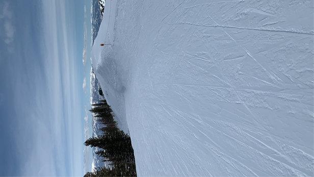 Park City - Here for 2nd of birthday week. Packed frozen granular. Still good skiing - © Okawana