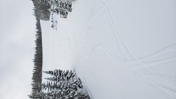 """Winter Park - Just returned from 5 nights and tons of snow at Winter Park. Got 12"""" of fresh while there and had great skiing on all terrain. I think they just extended the season until May. Social distancing enforced at base area and lift lines. - © Mike B Ski"""
