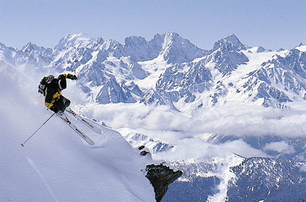 Reliable snow for freeskiers in Verbier, Switzerland - ©Verbier Tourist Office