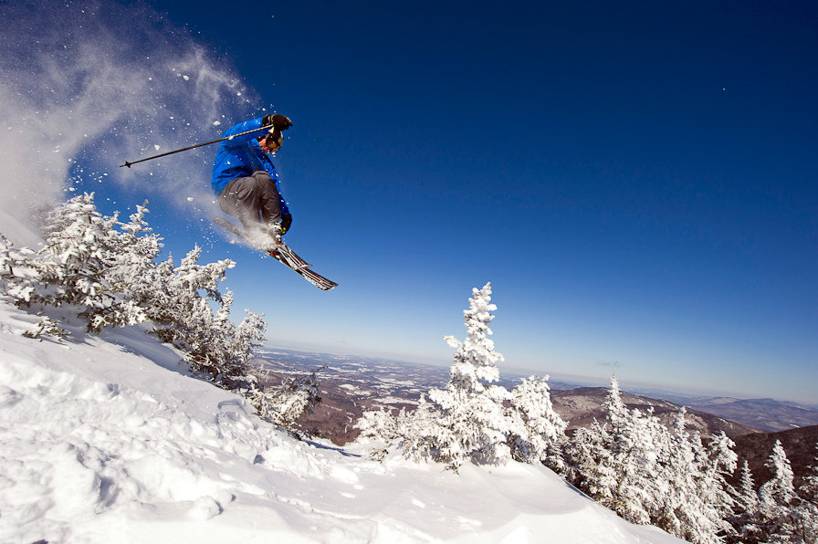 Air time is inevitable on the steep-pitched Double Blacks at Smugglers' Notch. Photo Courtesy of Smugglers' Notch. - ©Smugglers' Notch Resort