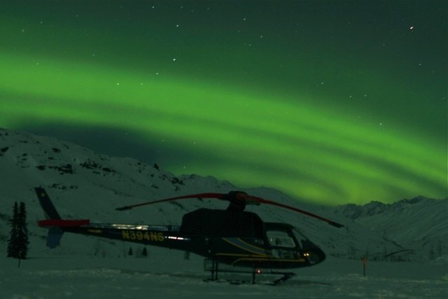 Get your adrenaline fix heli-skiing with ABA, then check out the Northern Lights. Photo Courtesy of Alaska Backcountry Adventures.  - ©Skiinfo - Jeppe Hansen