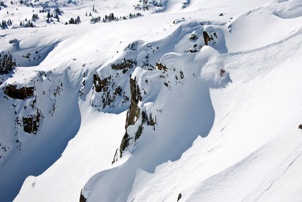 "Kevin ""Bert"" Flores finds deep snow and steep skiing near Montezuma, Colorado. Photo by Liam Doran. - © Liam Doran"