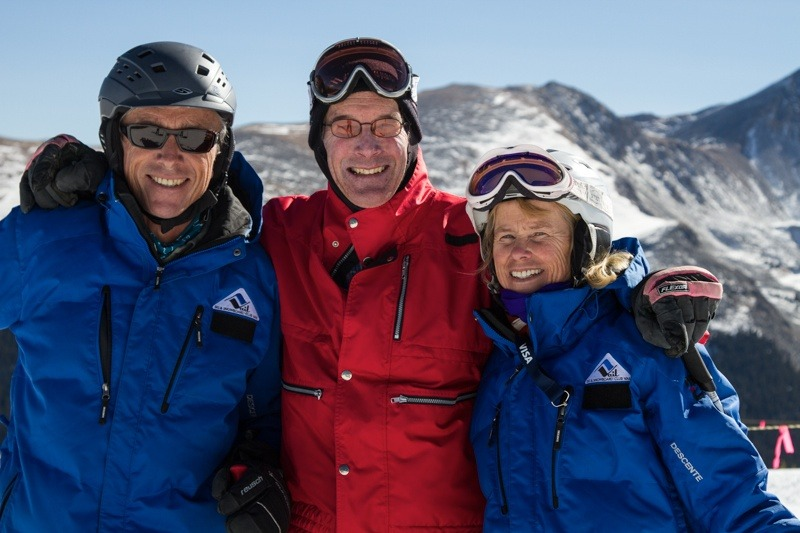 Former U.S. Ski Team Member CJ Mueller and friends. - © Liam Doran