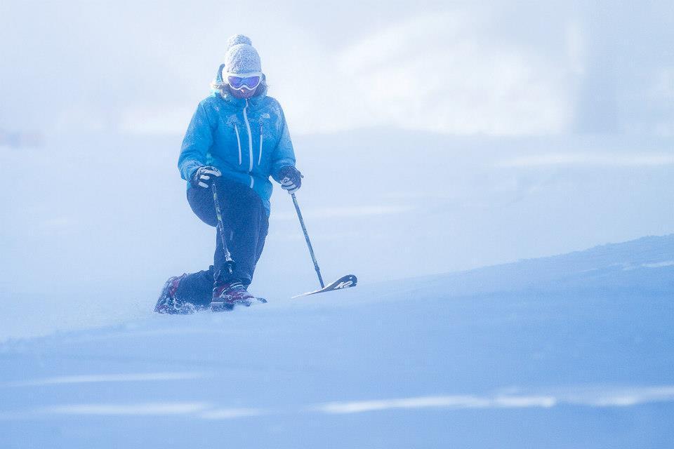 A tele skier makes early season turns during the season pass appreciation event. October 13-14. Photo Courtesy of Killington Resort.