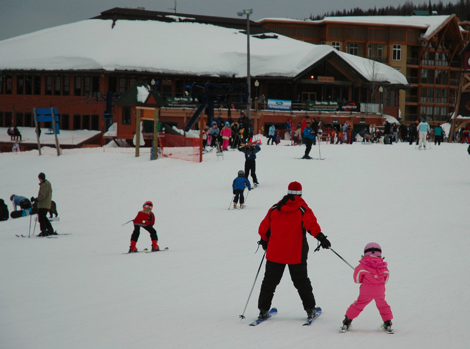Families enjoy Schweitzer's atmosphere.  - © Becky Lomax